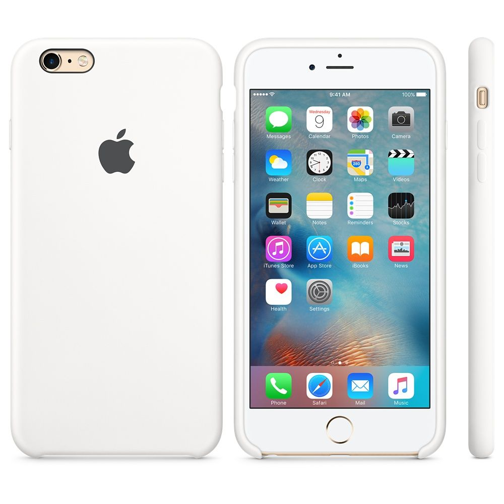 Apple iPhone 6 Plus Silicone Case - White, картинка 2