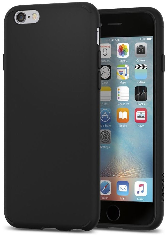 SGP iPhone 6/6S Liquid Crystal Matte Black