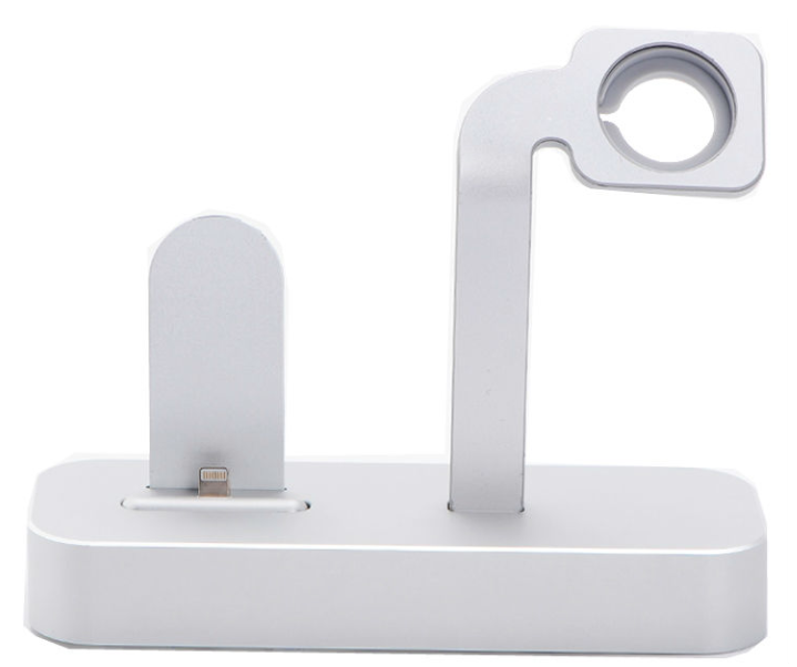 Док станция COTEetCI base dock для iPhone and Apple Watch - Silver