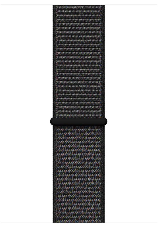 Часы Apple Watch S4 (GPS) 44mm Space Gray Aluminum/Black Sport Loop (MU6E2), картинка 3