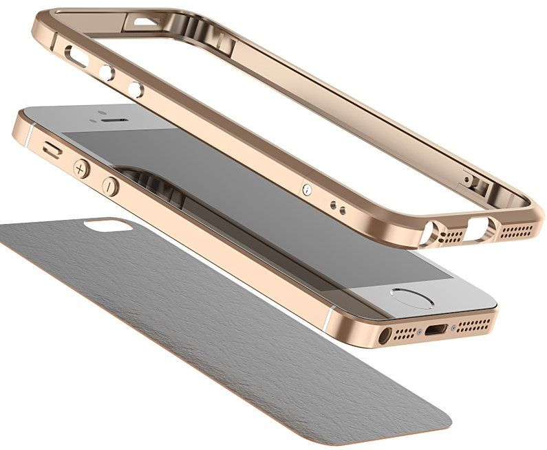 Luphie iPhone 5S/SE Bumper - Gold, картинка 3