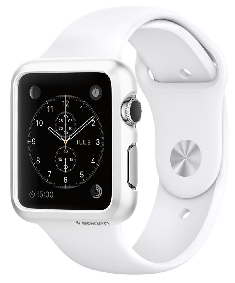 SGP Apple Watch 38mm Case Thin Fit - White, картинка 1
