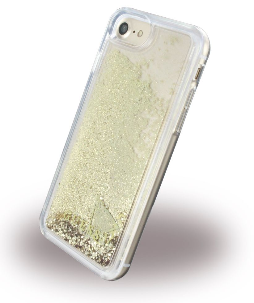 Guess iPhone 7 Liquid Glitter Hard  Gold , картинка 2