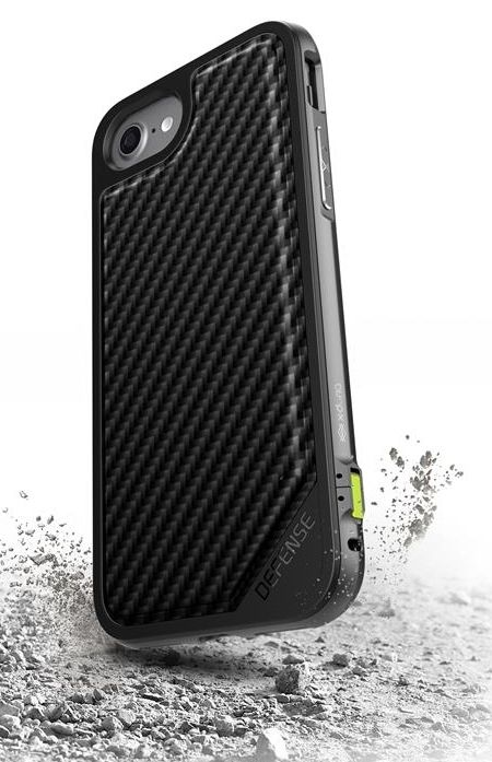 X-DORIA iPhone 7 Defense Carbon - Black, картинка 4