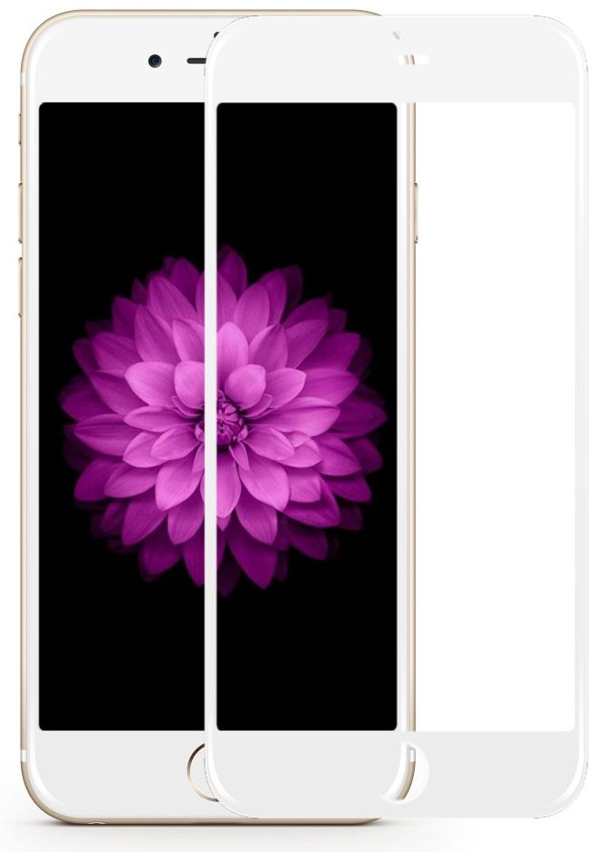Tempered Glass 5D iPhone 6/6S - White