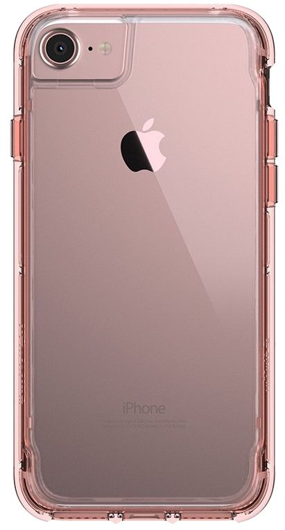 Griffin Survivor Clear case iPhone 7 - Rose Gold, картинка 1