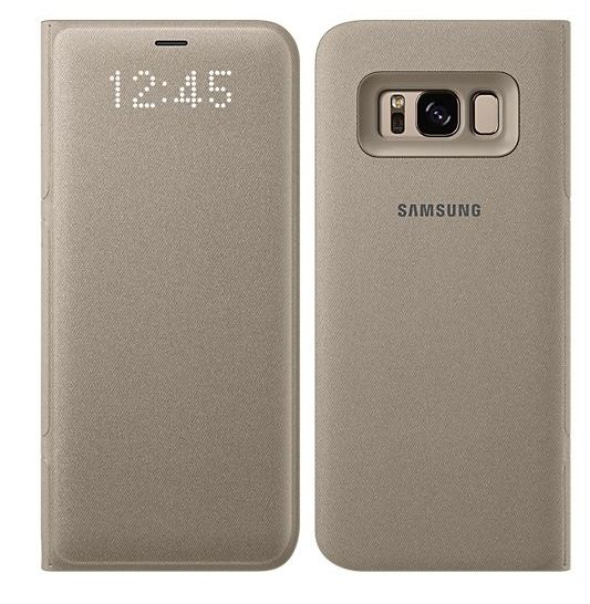 Samsung Galaxy S8+ LED View Cover - Gold, картинка 2