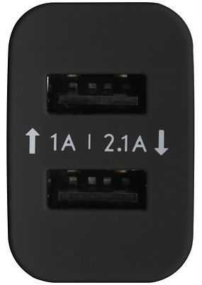 Deppa 2 USB Wall Charger 2.1A - Black, картинка 2