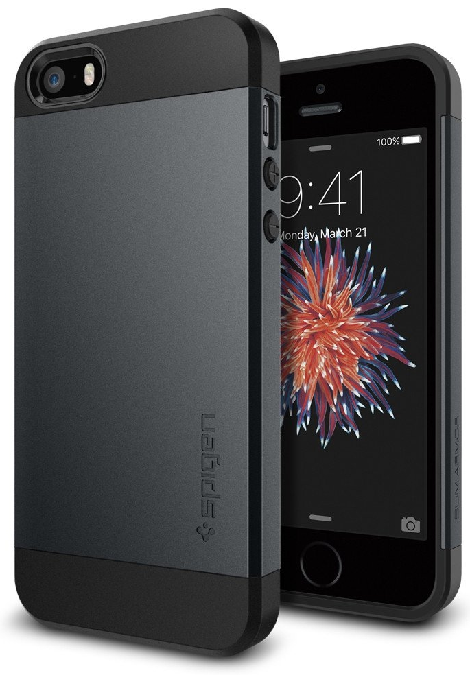 SGP  iPhone 5S/SE Slim Armor - Metal Slate