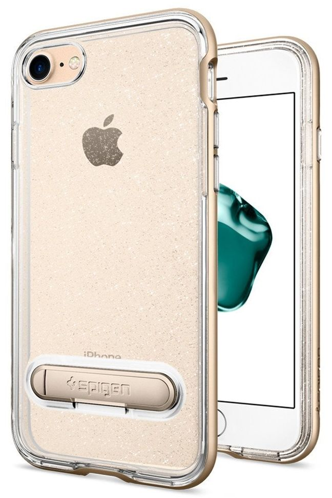 SGP Чехол iPhone 7 Neo Hybrid Crystal Glitter Champagne Gold