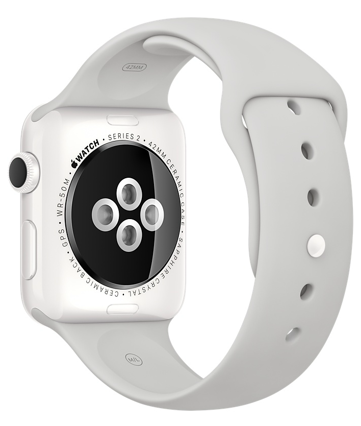 Apple Watch Edition 38mm White Ceramic/Cloud Sport Band (MNPF2), картинка 4