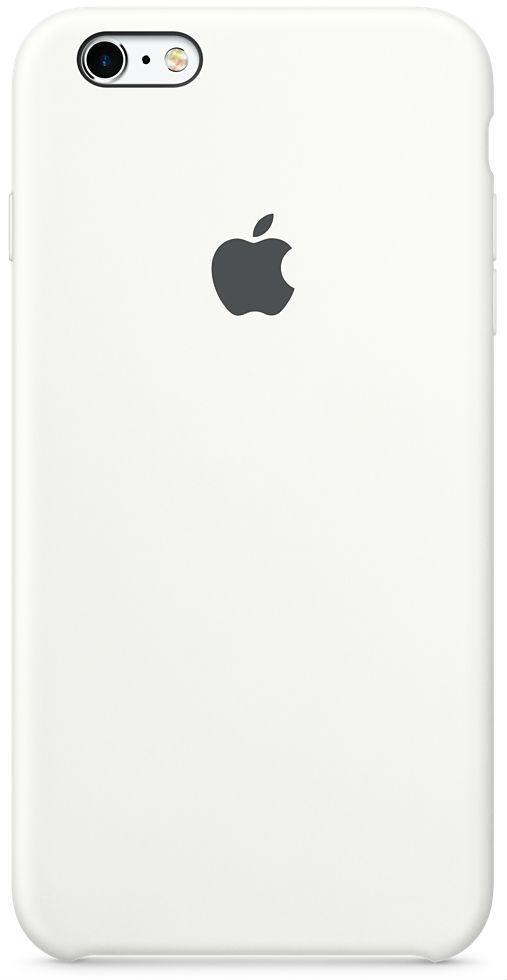 Apple iPhone 6 Plus Silicone Case - White, картинка 1