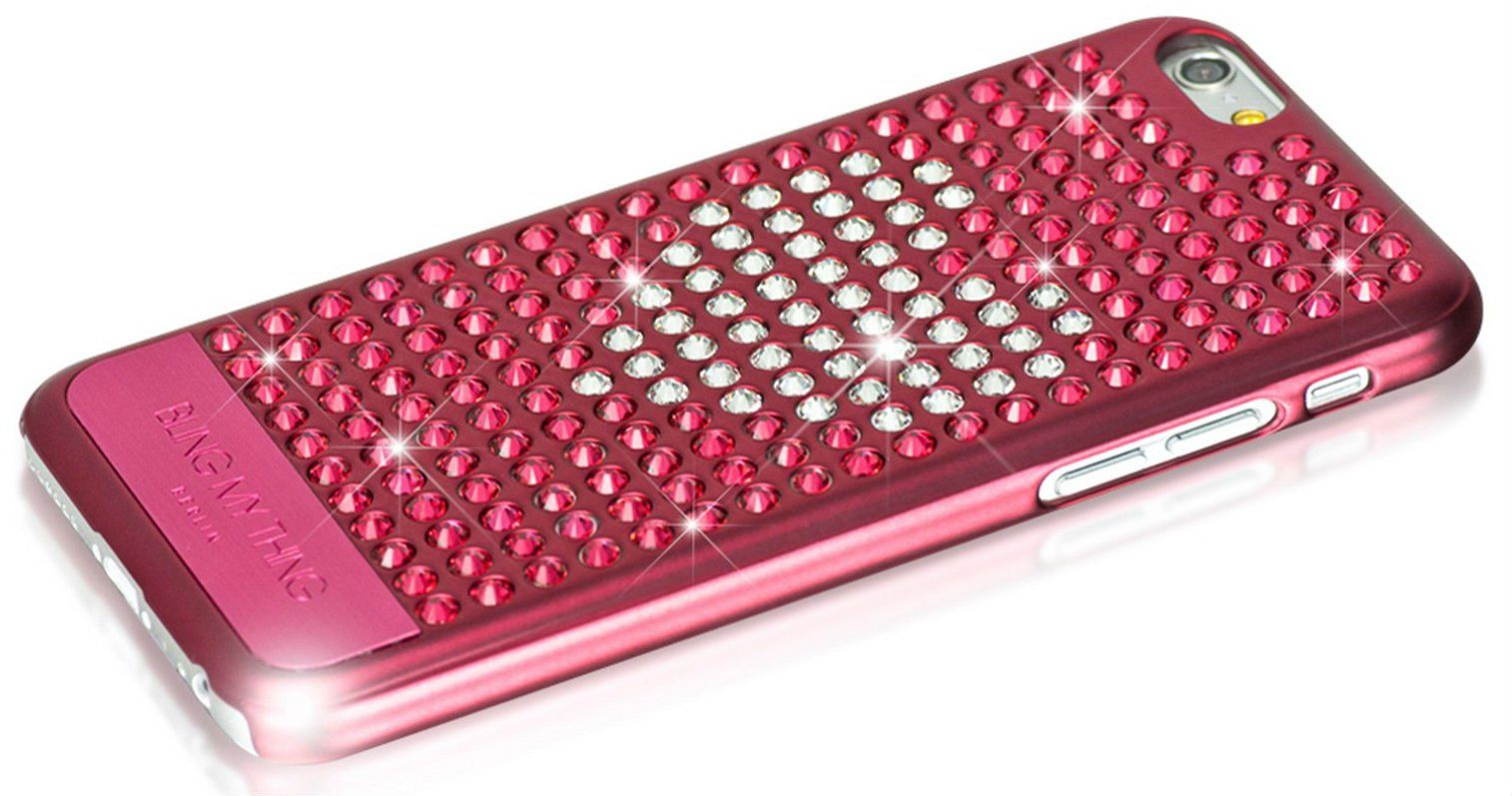 Bling My Thing iPhone 6 Swarovski Extravaganza Crystal Heart Pink, картинка 3