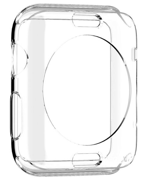 SGP Apple Watch 42mm Selicon Case Liquid - Crystal, картинка 3
