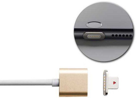Moizen Magnetic Charging Cable Lightning - Gold, картинка 2