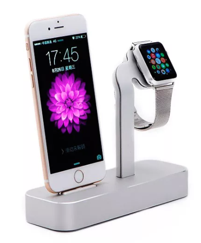 Док станция COTEetCI base dock для iPhone and Apple Watch - Silver, картинка 2