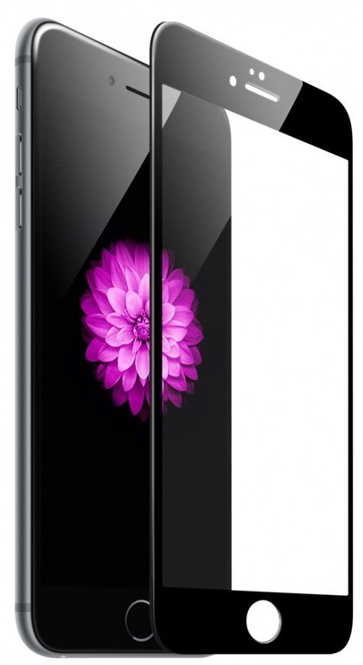 Tempered Glass 4D iPhone 7 - Black
