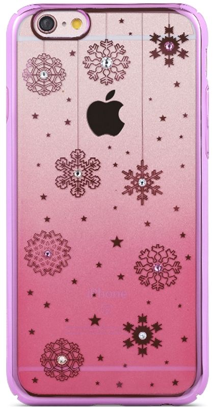 REMAX iPhone 6/6s Diamond Color Snow - Pink, картинка 1
