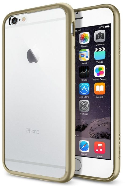SGP iPhone 6S Ultra Hybrid (PET) - Champagne Gold, картинка 1