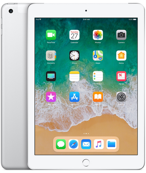 iPad 2018 128GB Wi-Fi + Cellular - Silver