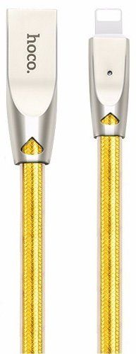 HOCO U9 Zync Alloy Lightning Cable 1.2m - Gold, картинка 1